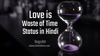 Love is Waste of Time Status in Hindi