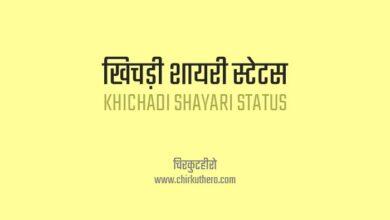 Khichadi Shayari Status in Hindi