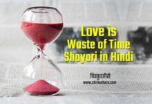 Love is Waste of Time Shayari in Hindi