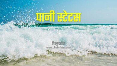Water Status in Hindi